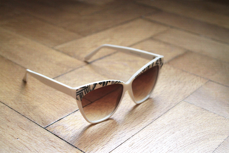 In my closet: ZARA b&w pearl effect sunglasses