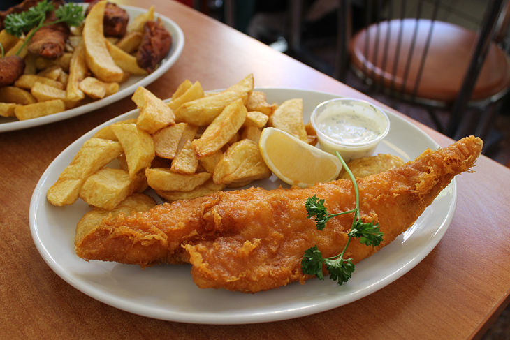 // fish & chips v The Rock & Sole Plaice