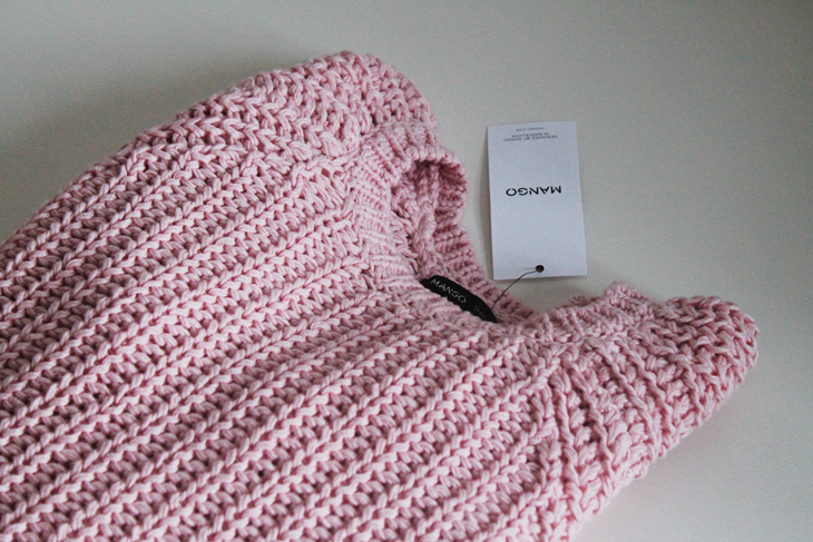In my closet / chunky knitt in baby pink by Mango